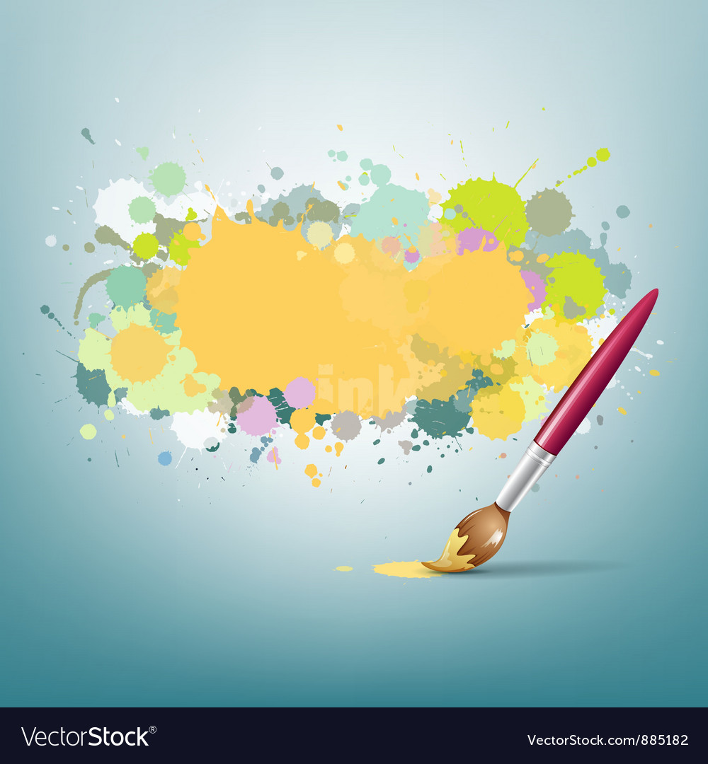 Abstract colorful ink and paint brush background vector | Price: 1 Credit (USD $1)