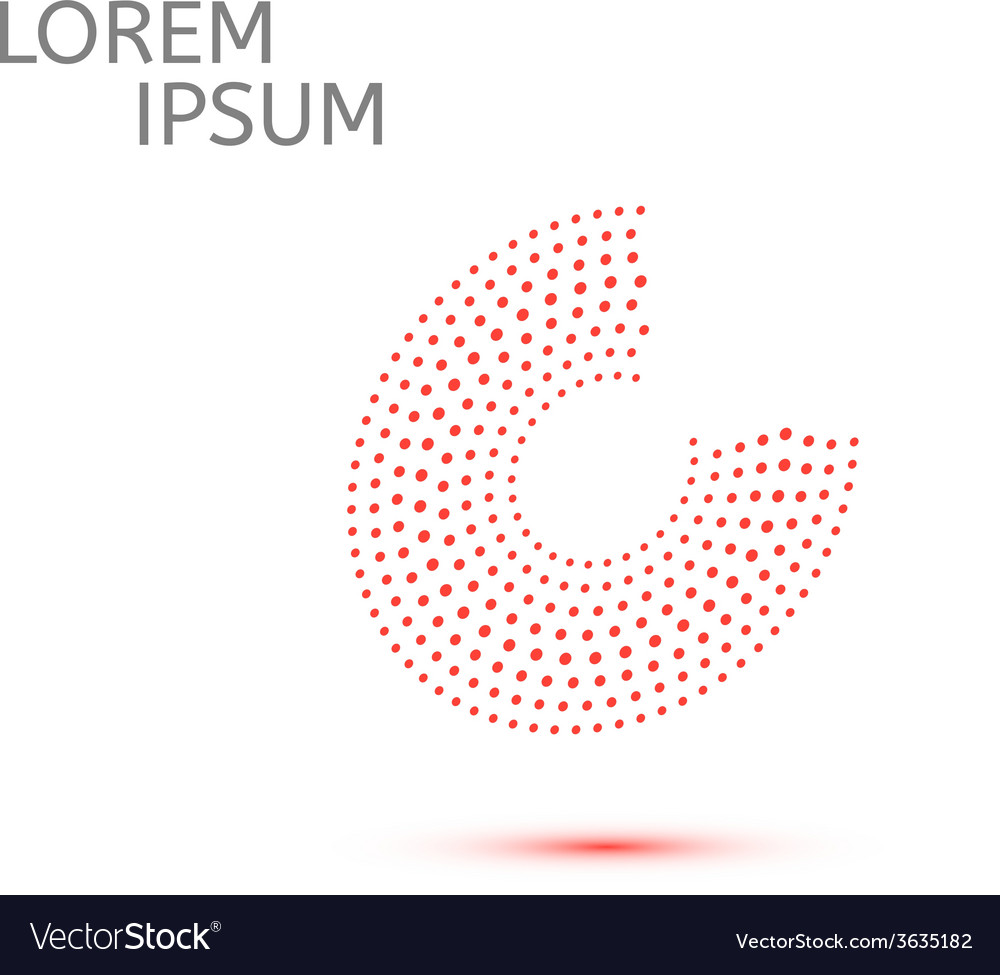 Abstract isolated red dots circle vector | Price: 1 Credit (USD $1)