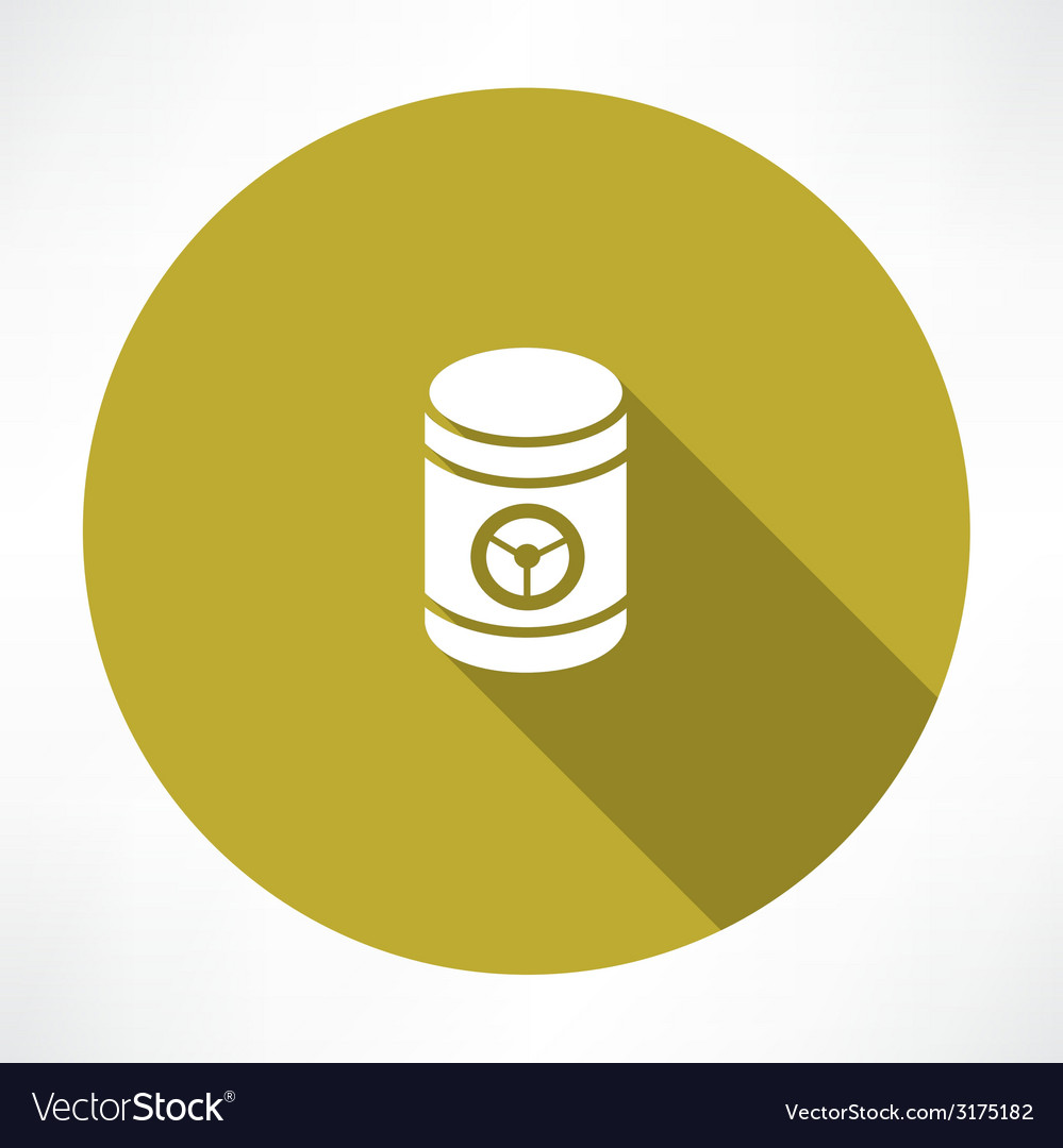 Barrel with danger signs icon vector | Price: 1 Credit (USD $1)