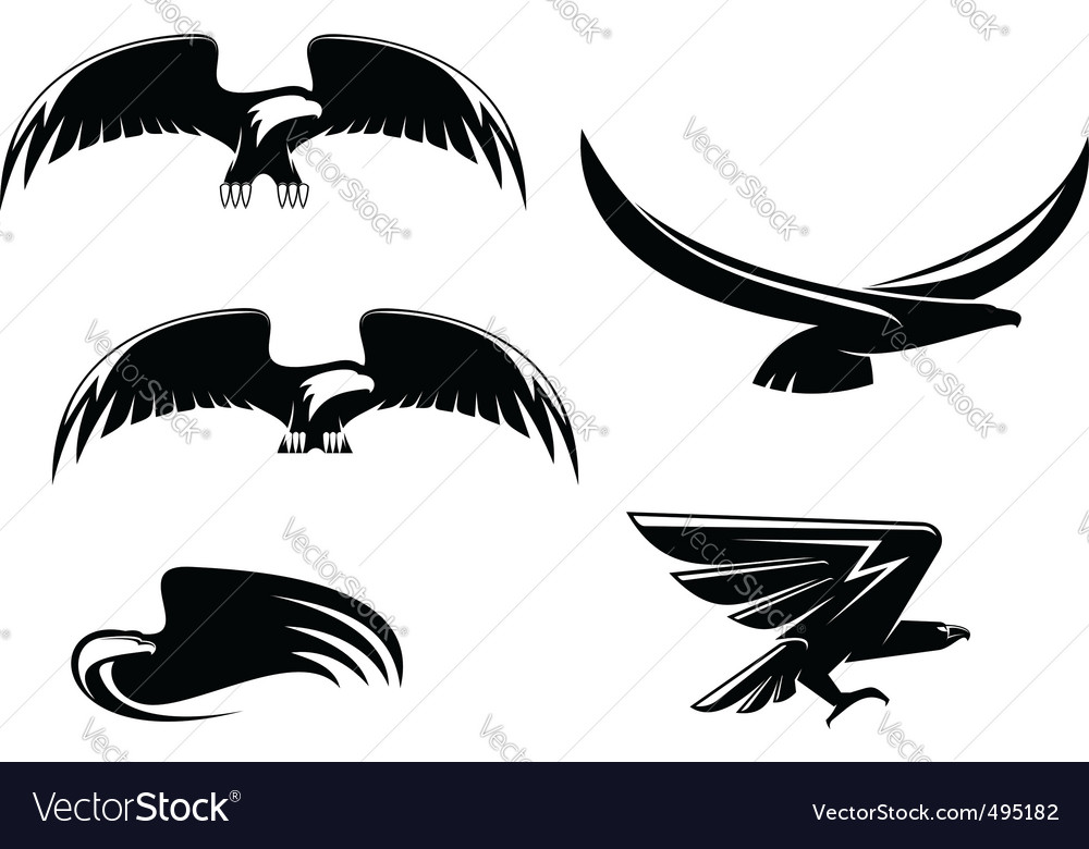 Eagle symbols and tattoo vector | Price: 1 Credit (USD $1)