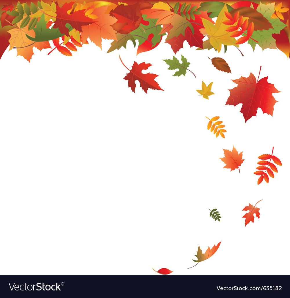 Falling leaves vector | Price: 1 Credit (USD $1)