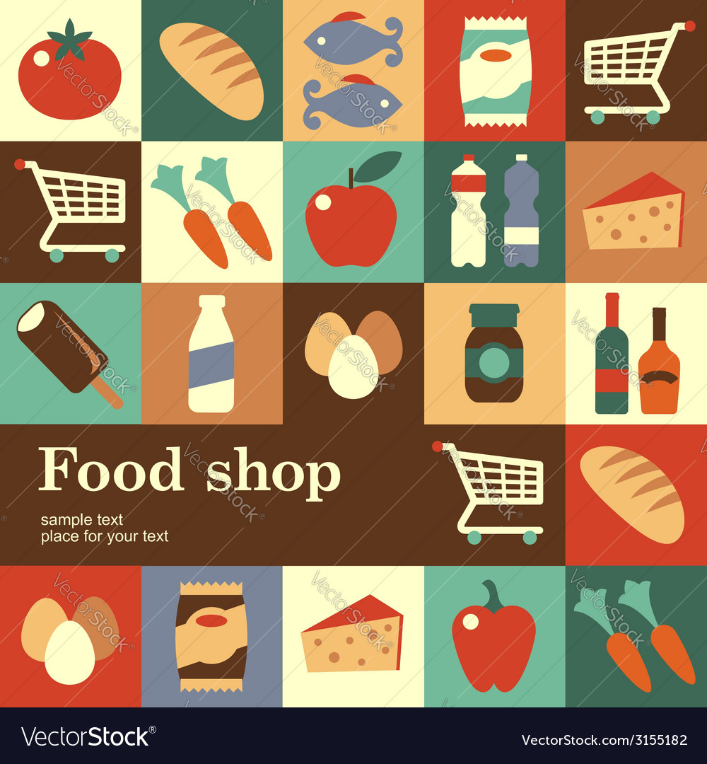 Food shop vector | Price: 1 Credit (USD $1)