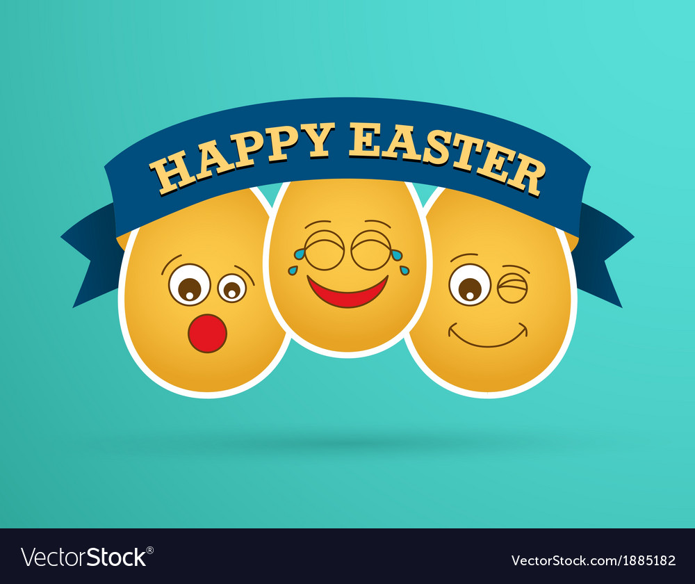 Funny easter egg friends vector   Price: 1 Credit (USD $1)