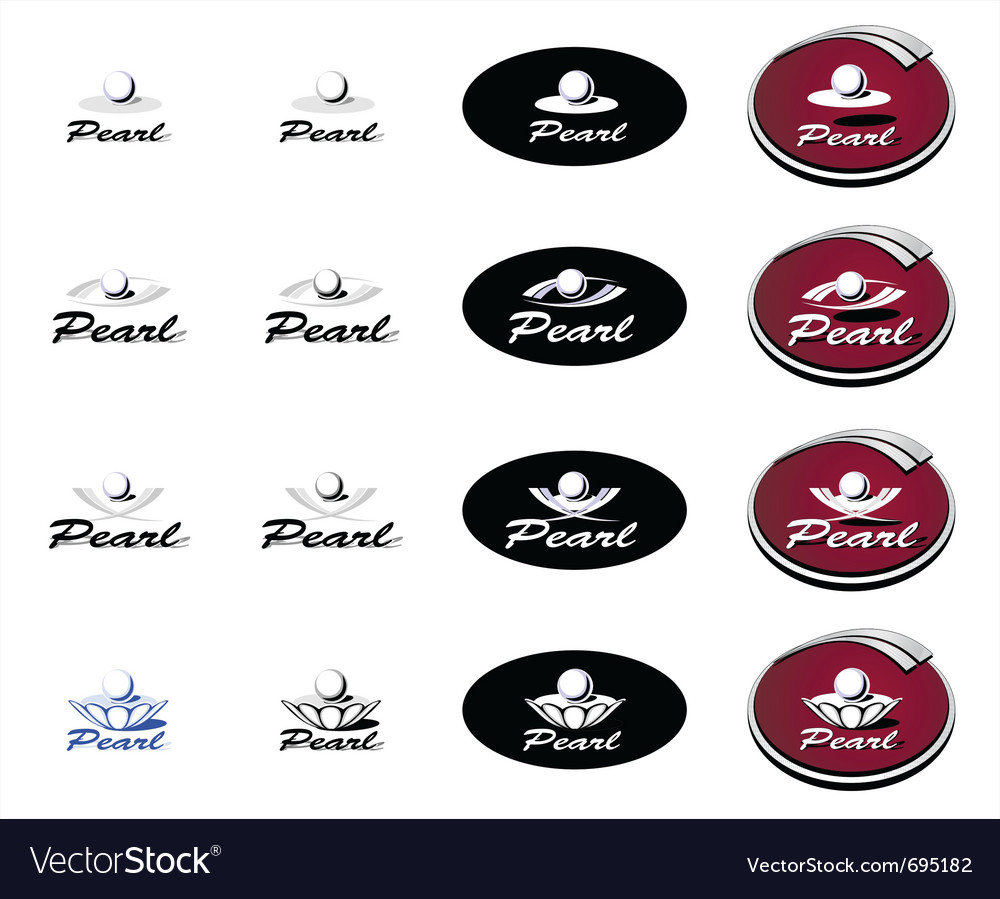 Logotype pearl vector | Price: 1 Credit (USD $1)