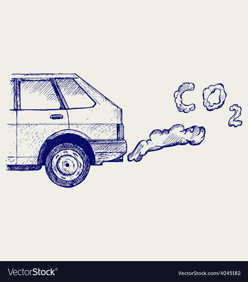 Machine exhaust gases vector | Price: 1 Credit (USD $1)