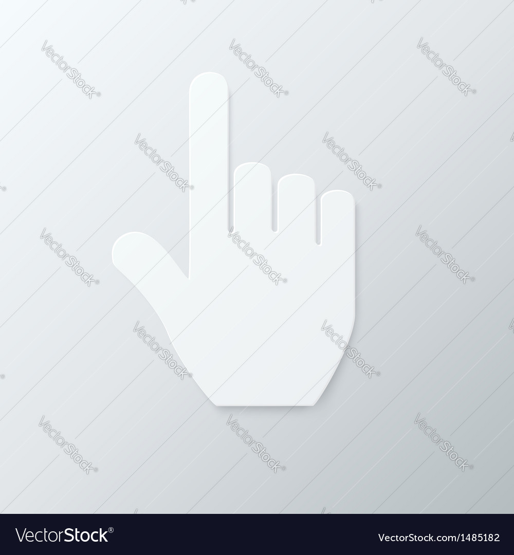 Paper hand cursor vector | Price: 1 Credit (USD $1)