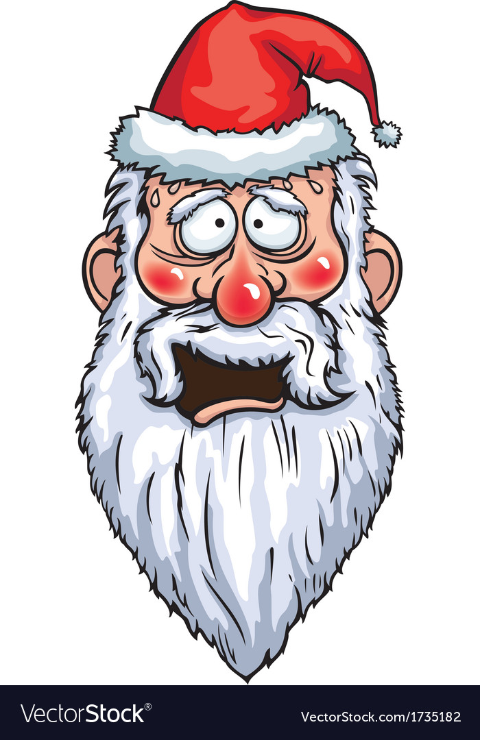 Santa claus cowardly head vector | Price: 1 Credit (USD $1)