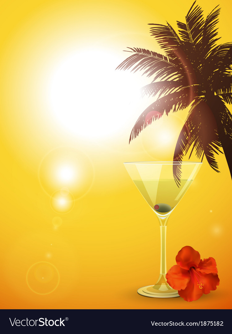 Summer cocktail background portrait vector | Price: 1 Credit (USD $1)