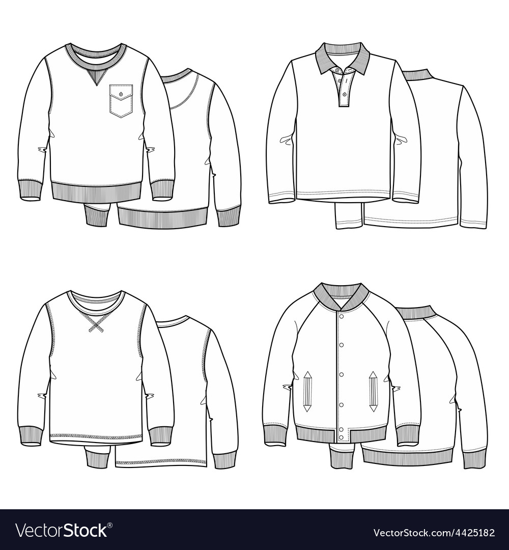 Sweaters white vector | Price: 1 Credit (USD $1)