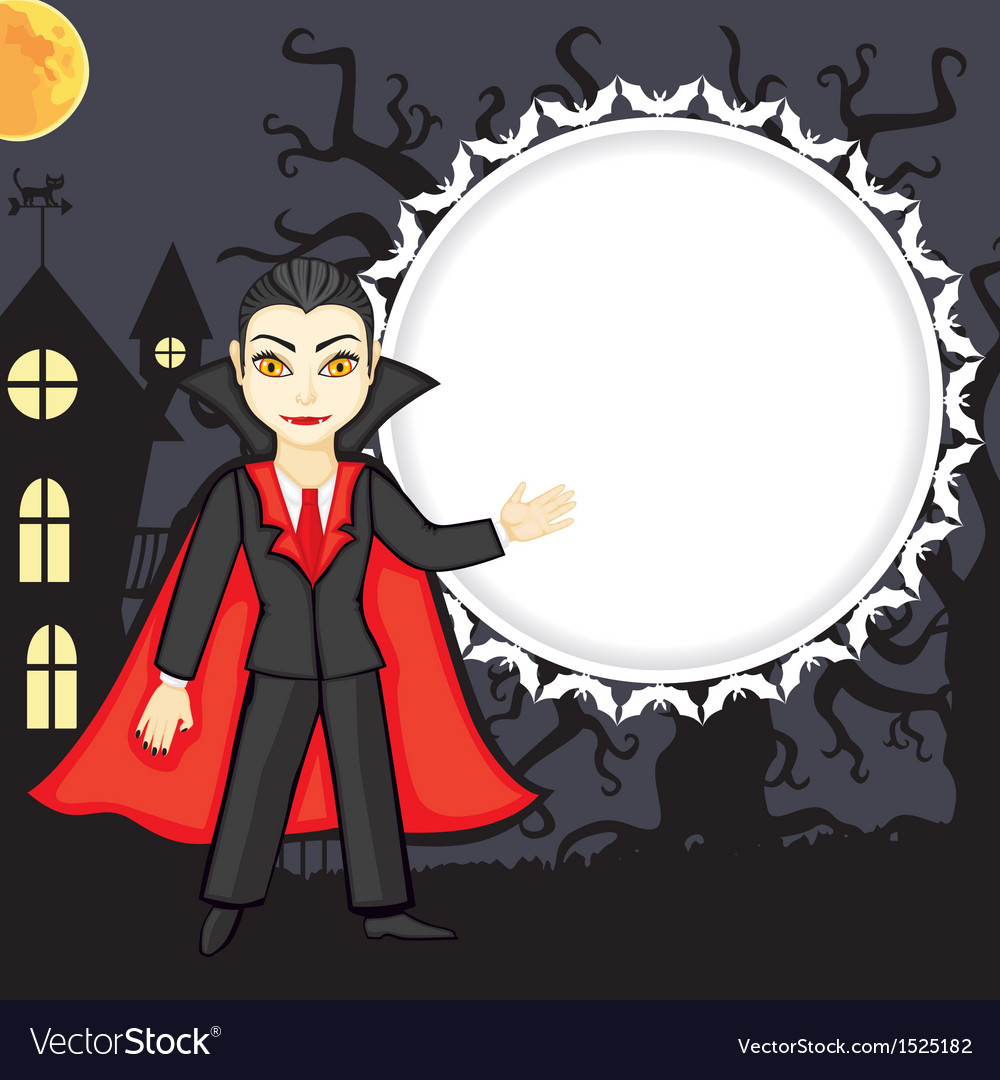 Vampire background vector | Price: 1 Credit (USD $1)