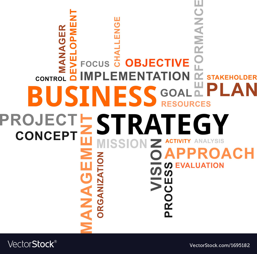 Word cloud business strategy vector | Price: 1 Credit (USD $1)
