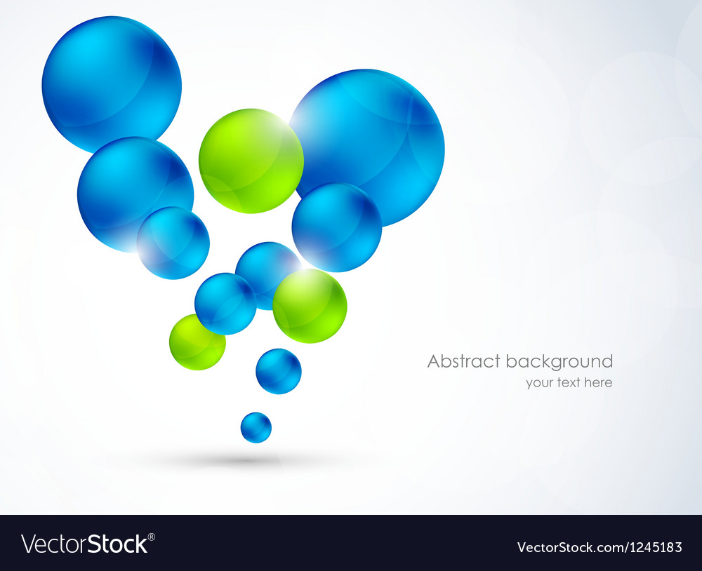 Abstract background with bubbles vector | Price: 1 Credit (USD $1)