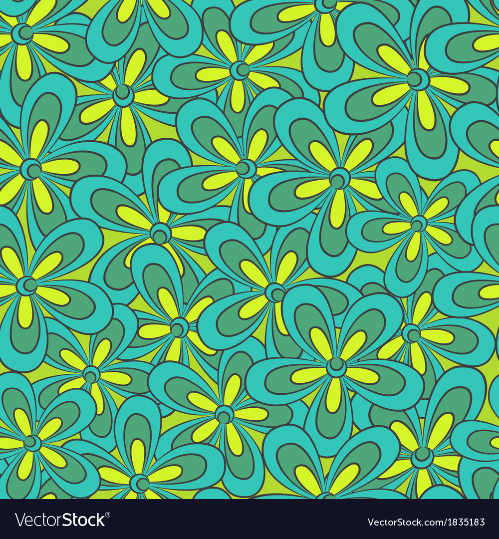 Abstract seamless floral pattern vector | Price: 1 Credit (USD $1)