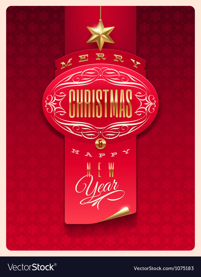 Christmas greeting design vector | Price: 3 Credit (USD $3)