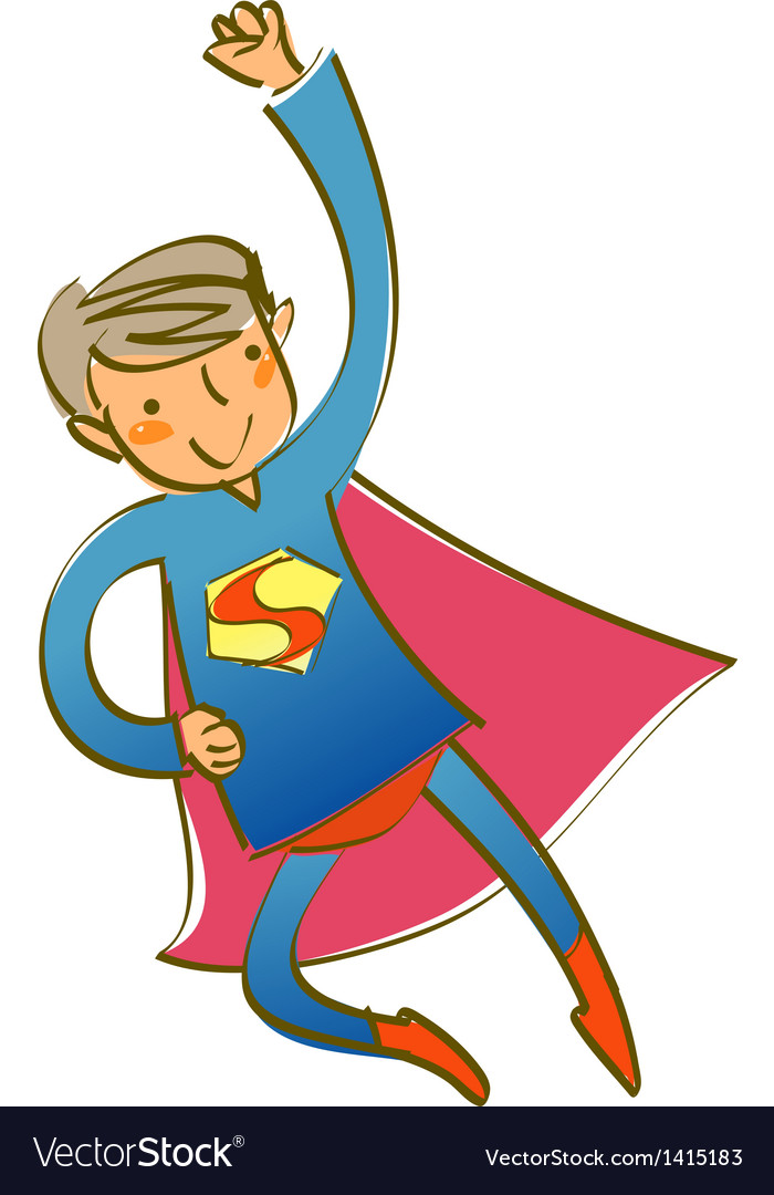 Close-up of man in superman in costumeclose-up of vector | Price: 1 Credit (USD $1)