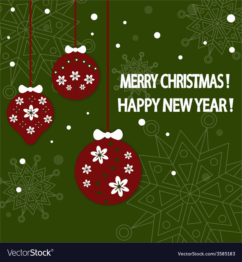 Happy new year card background vector | Price: 1 Credit (USD $1)