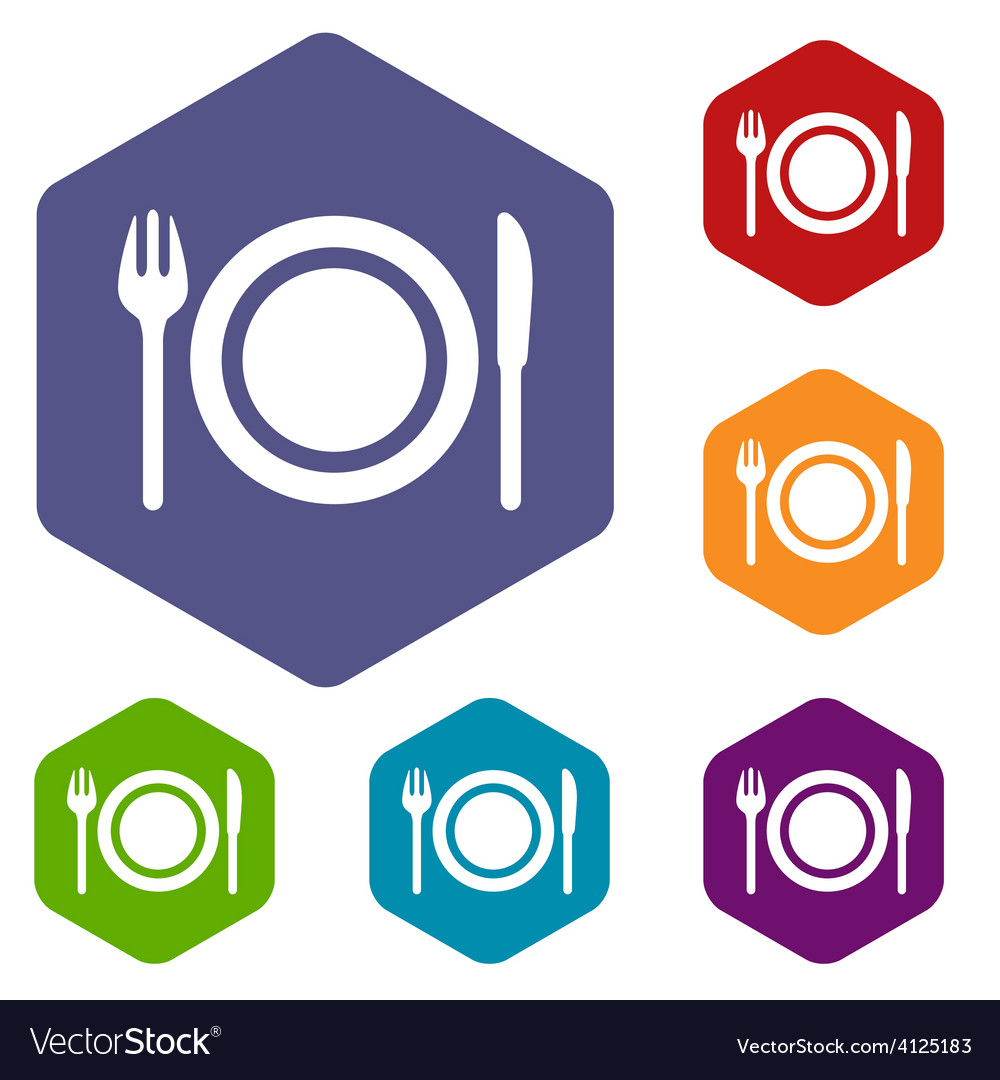 Plate rhombus icons vector | Price: 1 Credit (USD $1)