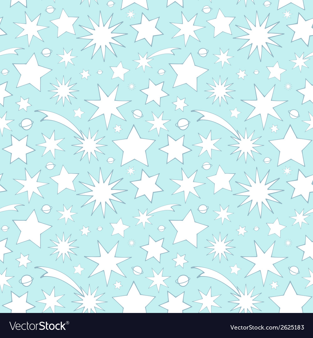 Seamless pattern with decorative stars vector   Price: 1 Credit (USD $1)