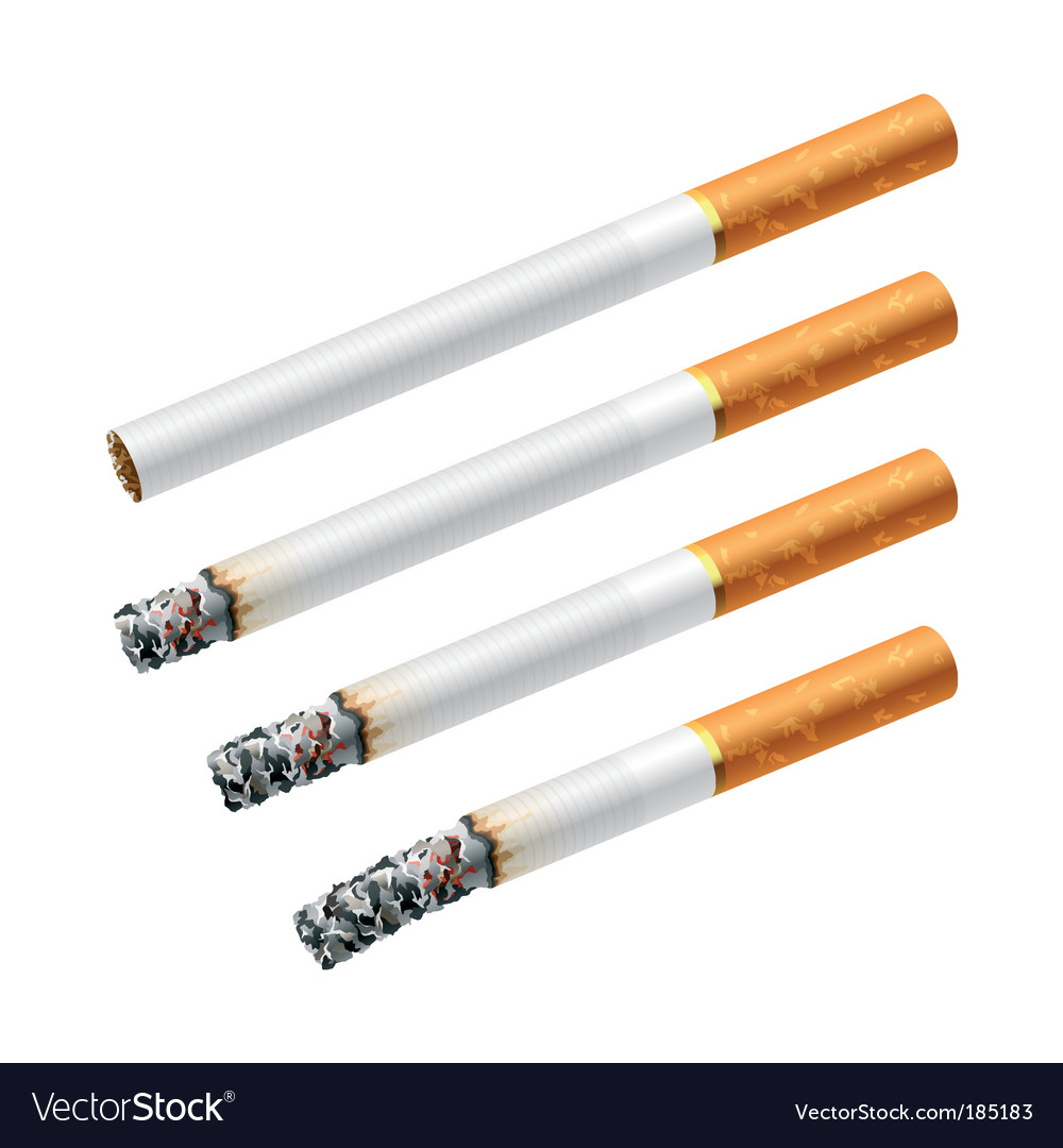 Smoking a cigarette vector | Price: 1 Credit (USD $1)