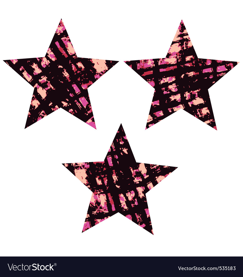 Star textured symbol vector | Price: 1 Credit (USD $1)