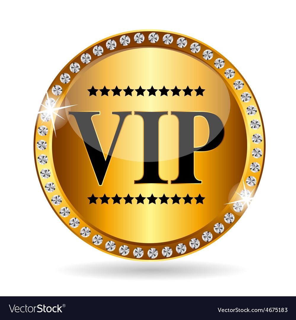 Vip members label vector | Price: 1 Credit (USD $1)