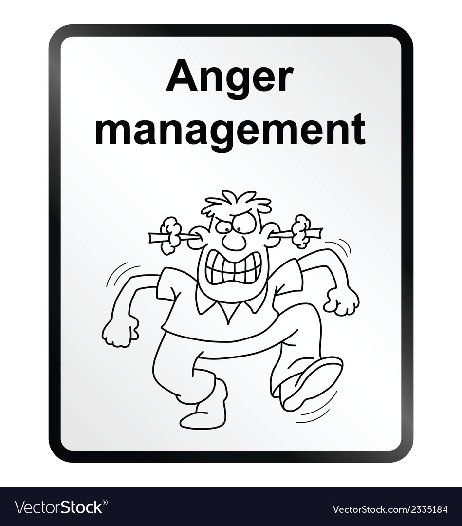 Anger management information sign vector | Price: 1 Credit (USD $1)