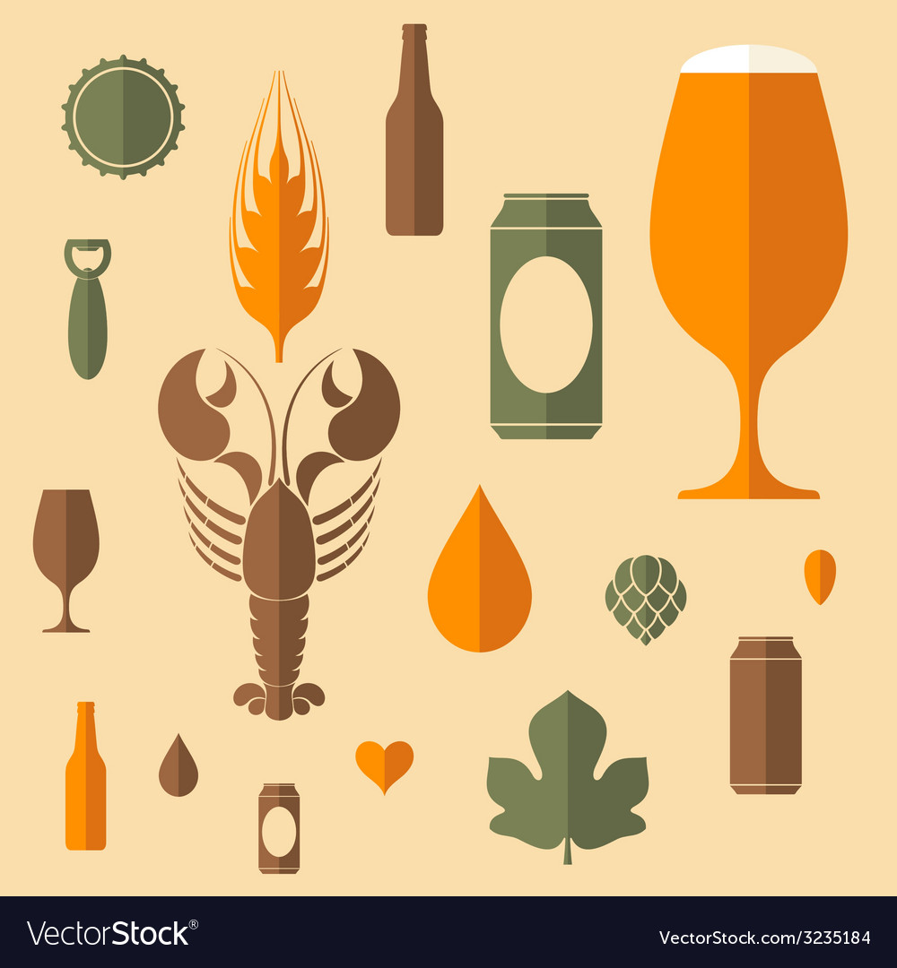 Beer icon set vector | Price: 1 Credit (USD $1)