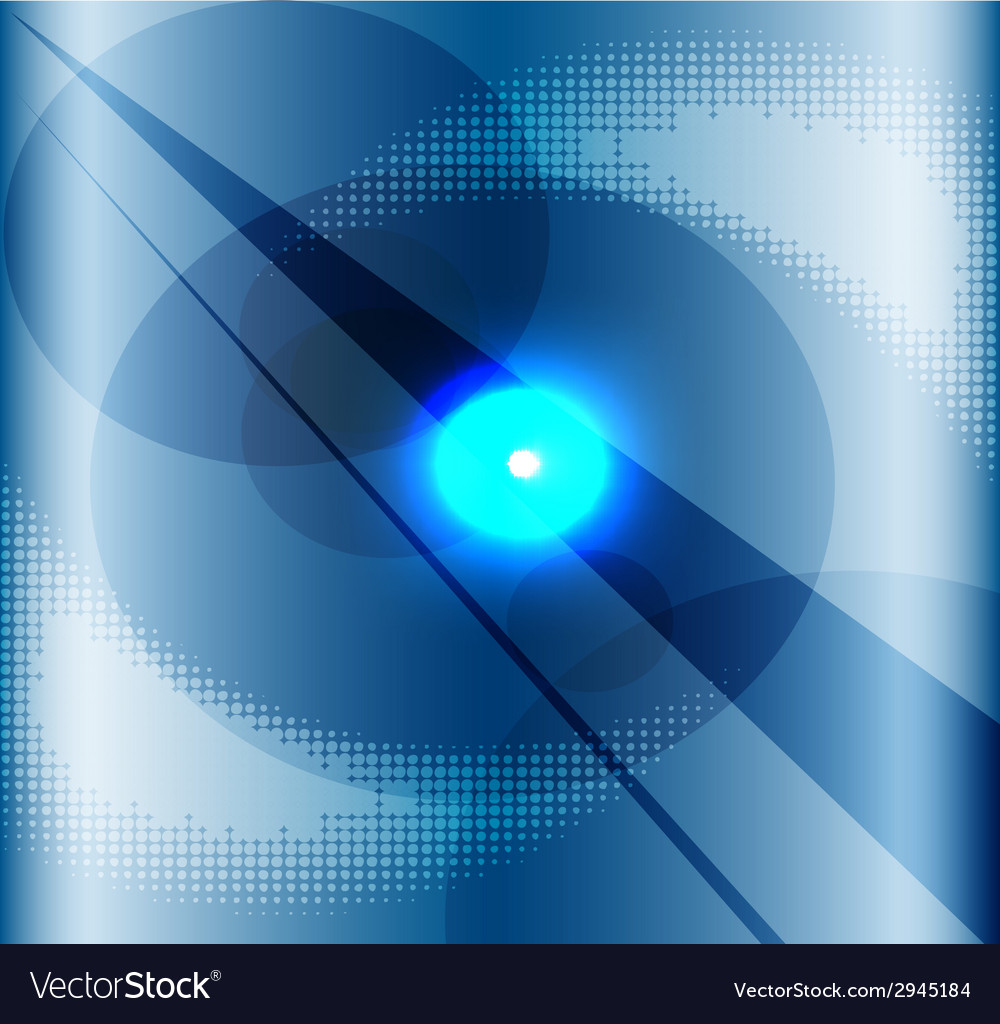 Blue background with a burst light vector | Price: 1 Credit (USD $1)