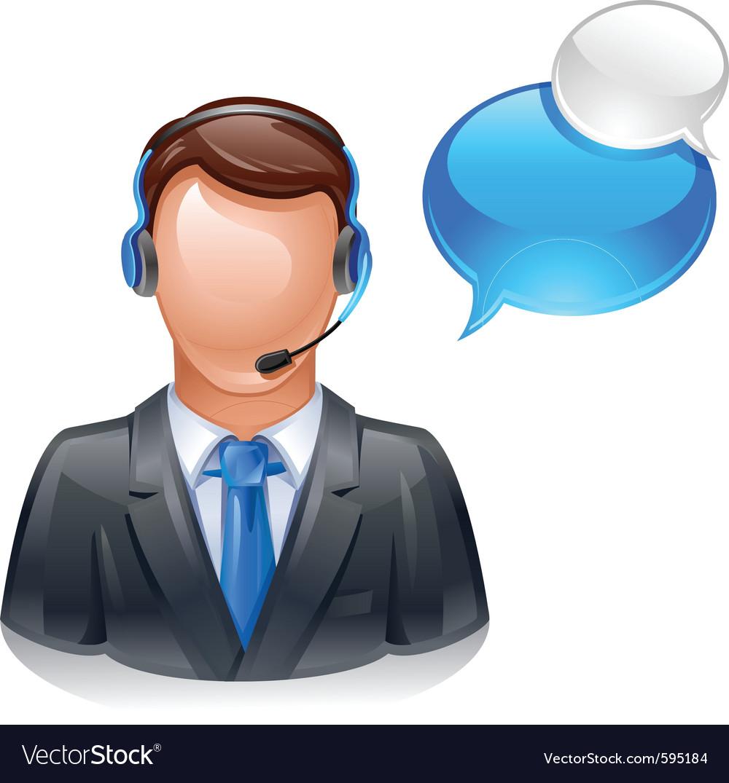 Customer service operator vector | Price: 3 Credit (USD $3)