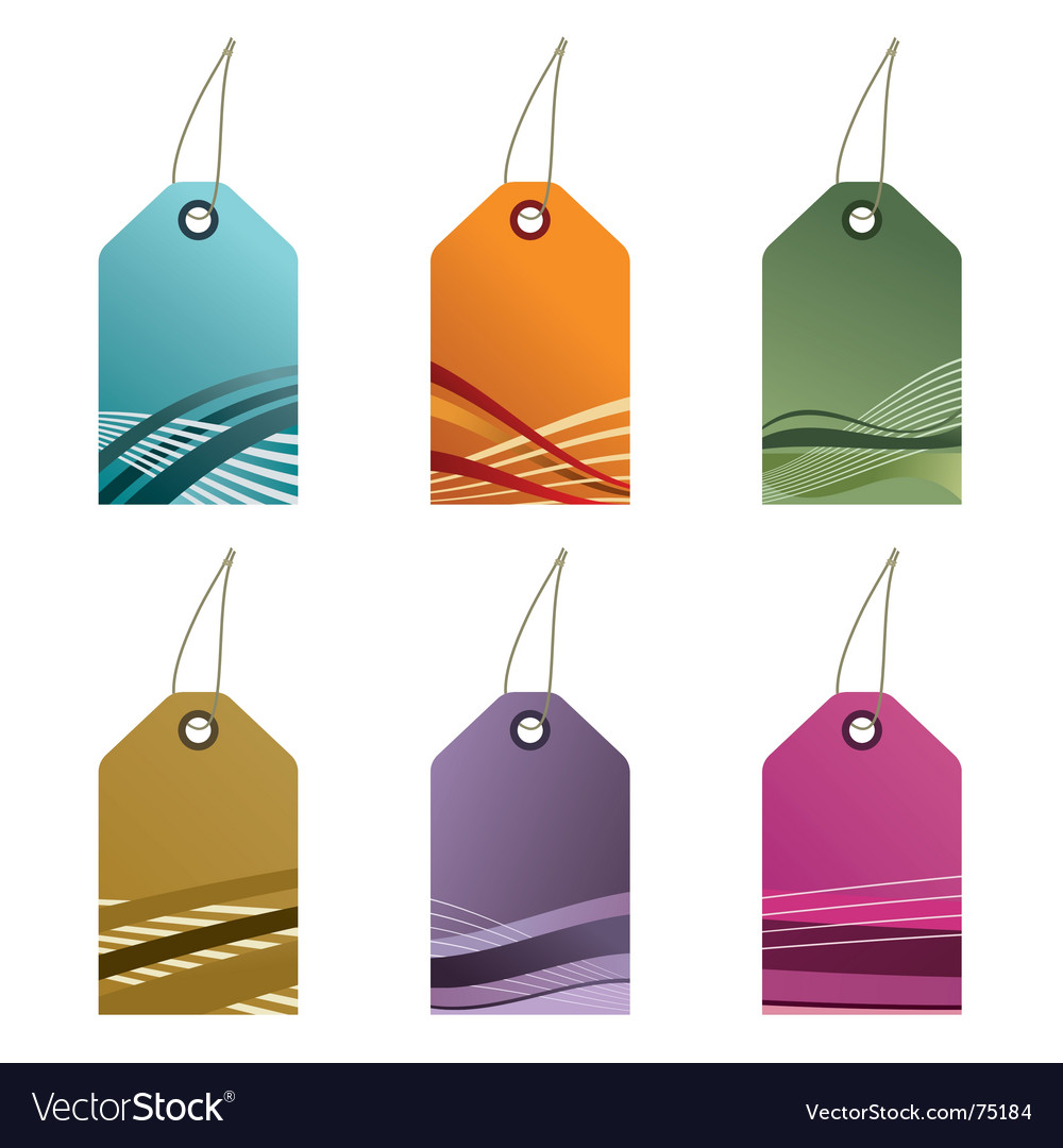 Gradient tags vector | Price: 1 Credit (USD $1)
