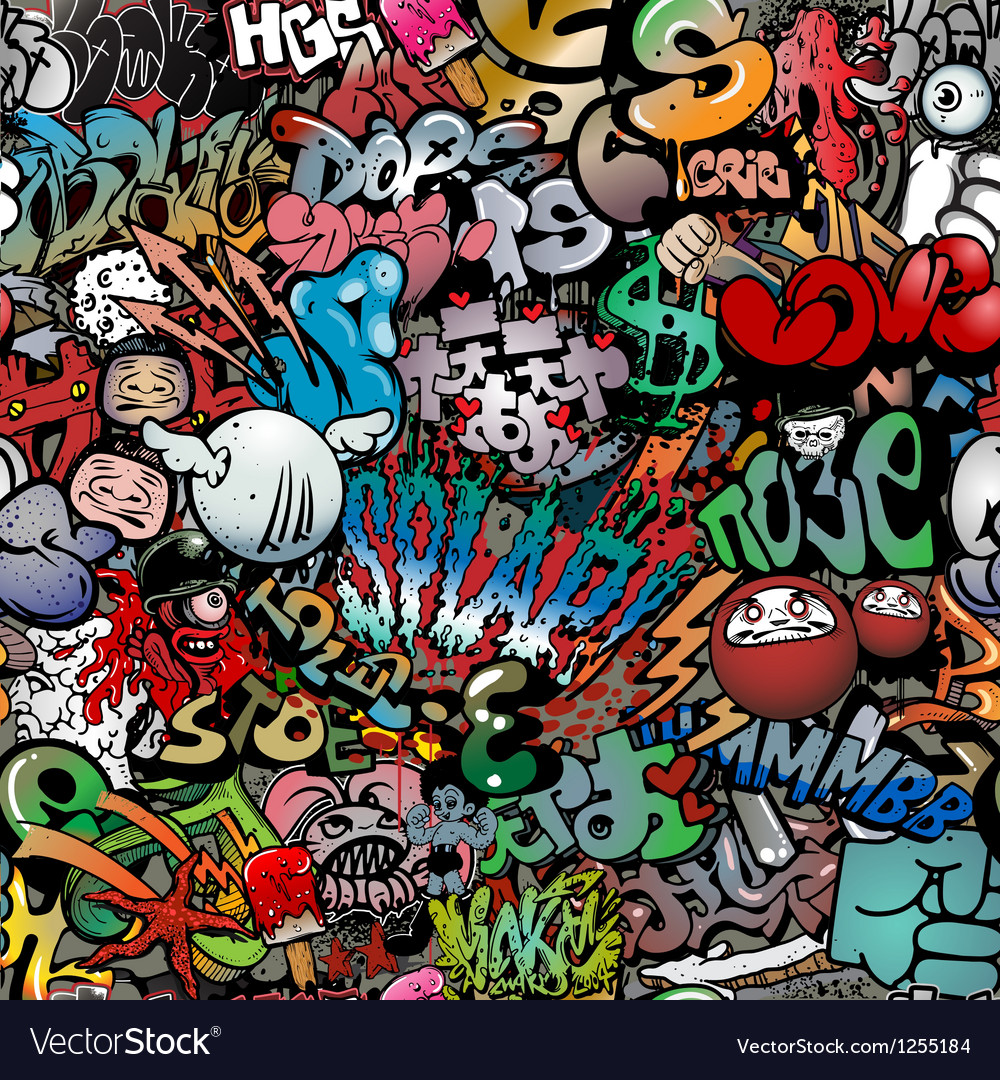 Graffiti on wall streetart background vector | Price: 1 Credit (USD $1)