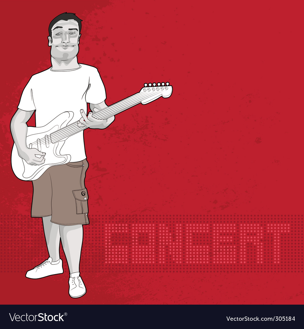 Guitarist and concert graphic vector | Price: 1 Credit (USD $1)