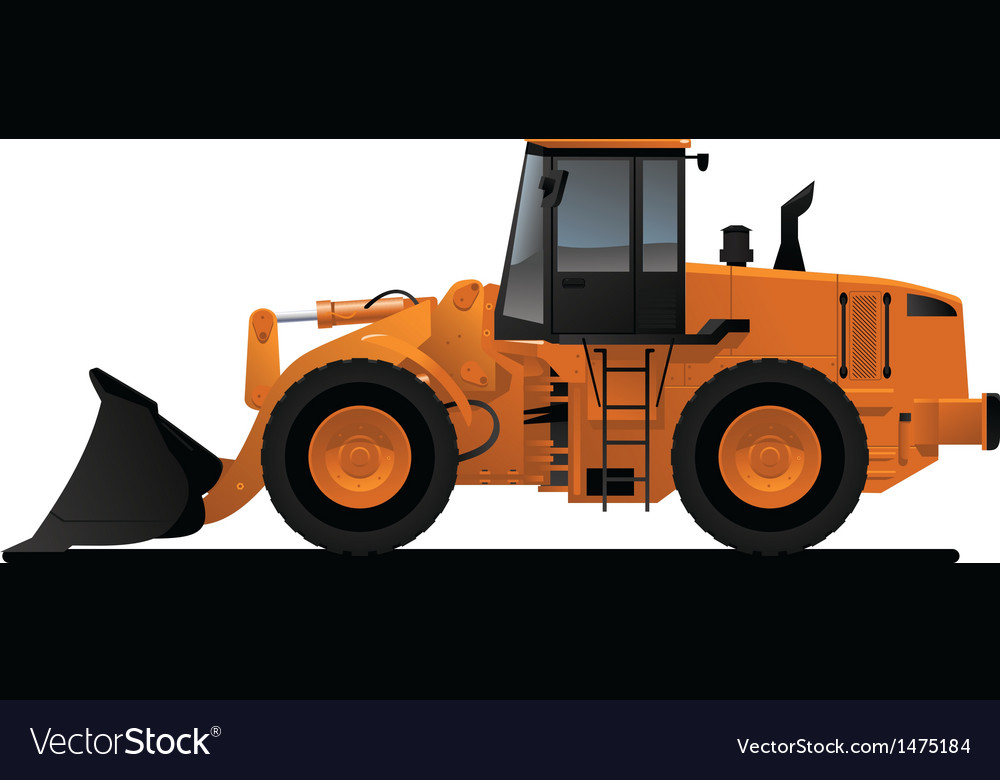 Heavy equipment loader vector | Price: 1 Credit (USD $1)