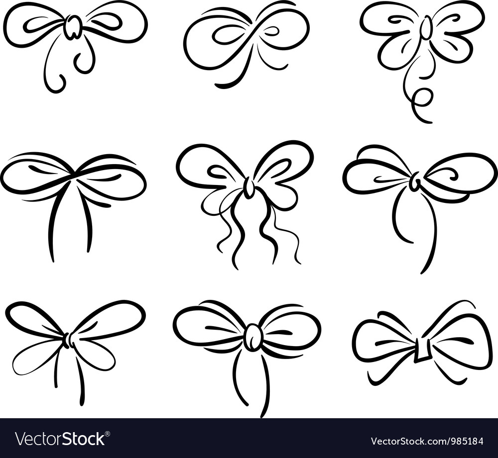 Set of bow vector   Price: 1 Credit (USD $1)
