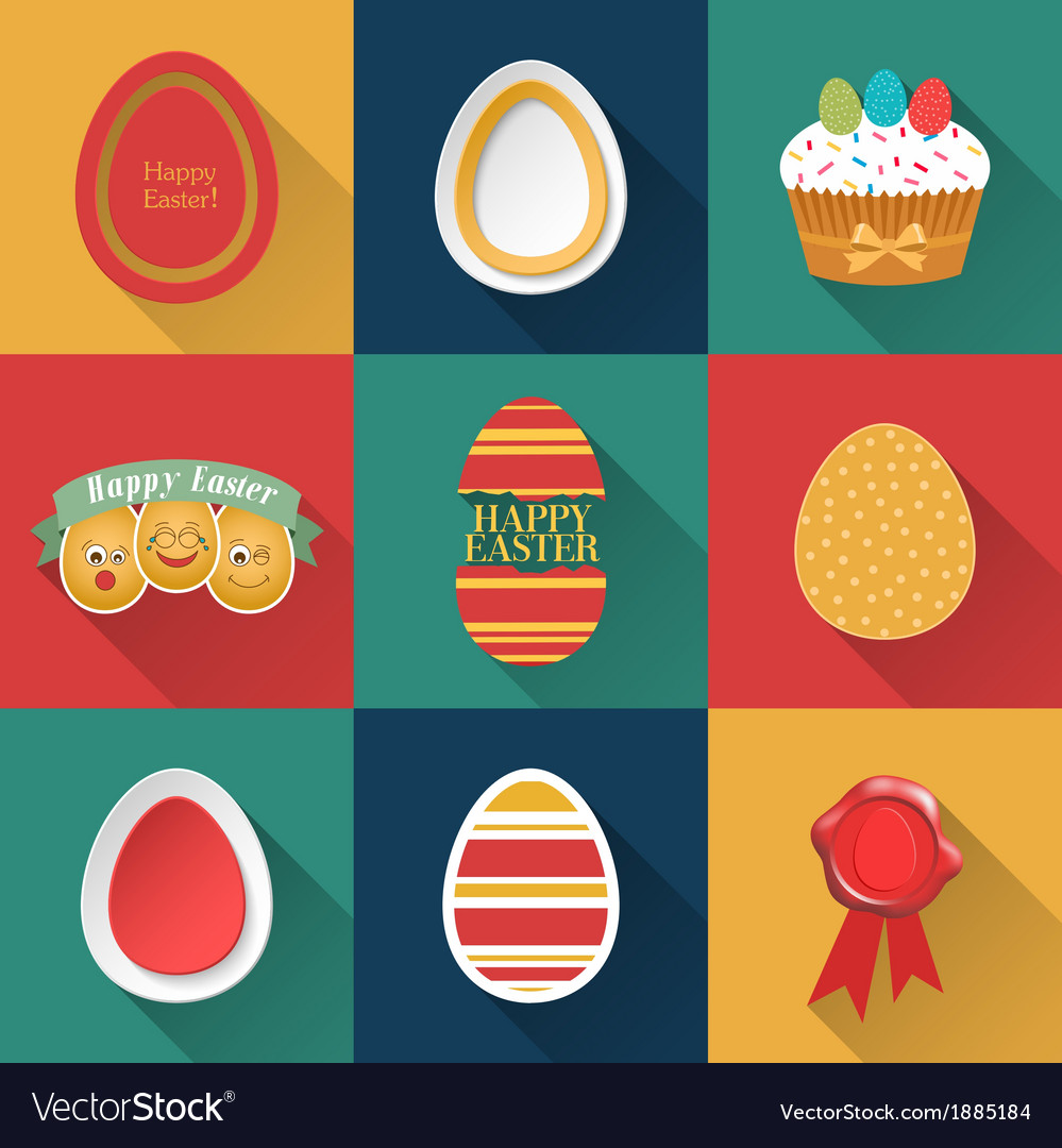 Set of easter objects vector | Price: 1 Credit (USD $1)