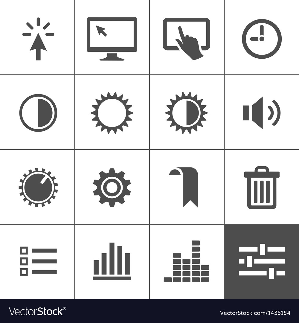 Settings icon set vector | Price: 1 Credit (USD $1)