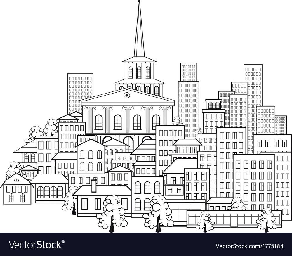 Small town of a few streets vector | Price: 1 Credit (USD $1)