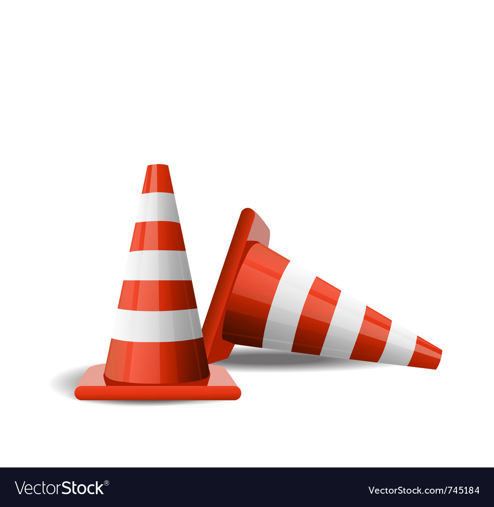 Traffic cones vector | Price: 3 Credit (USD $3)