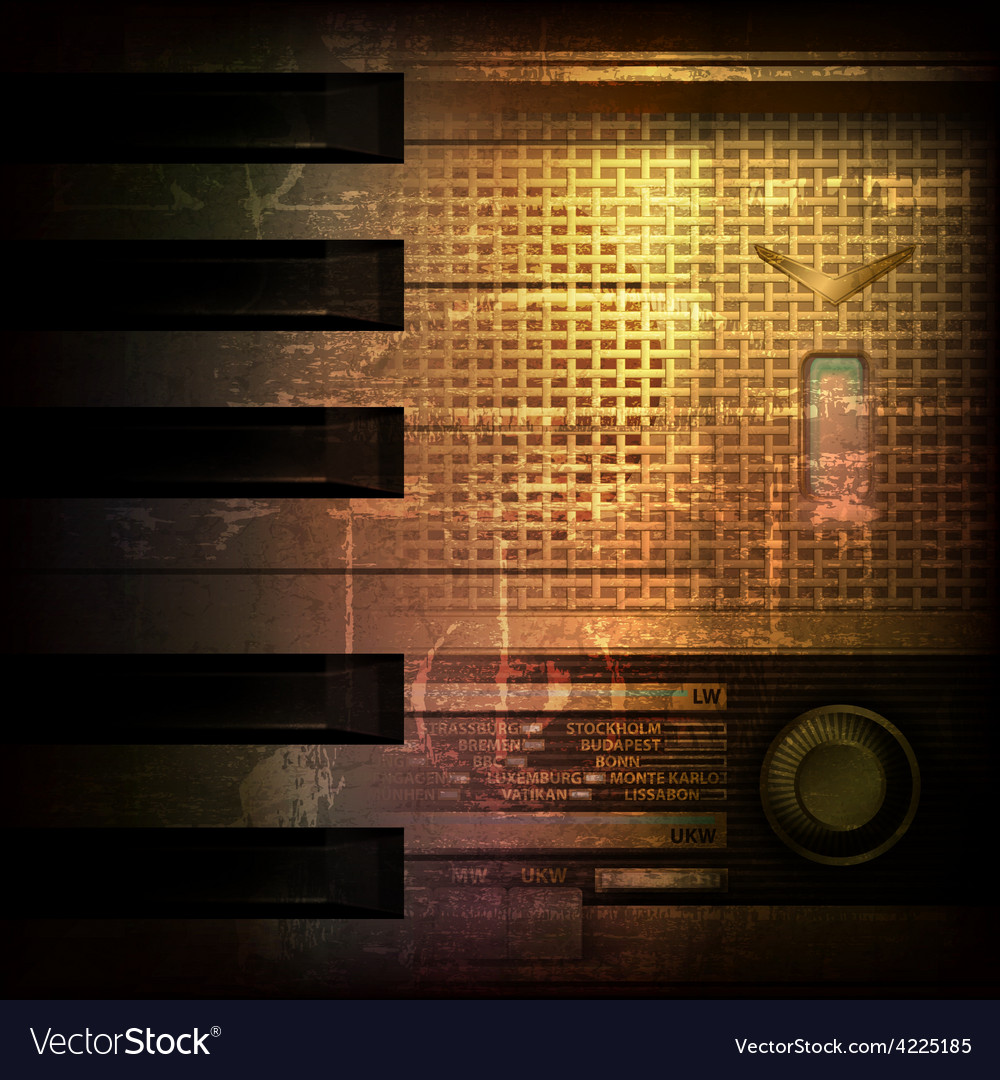 Abstract brown grunge music background with retro vector | Price: 3 Credit (USD $3)