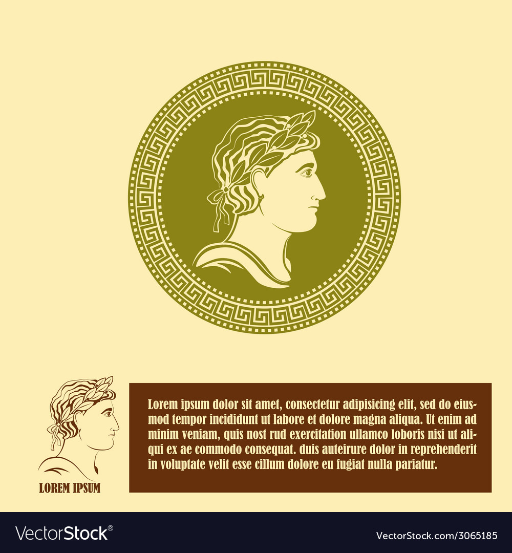 Ancient profile of man logo design template vector | Price: 1 Credit (USD $1)