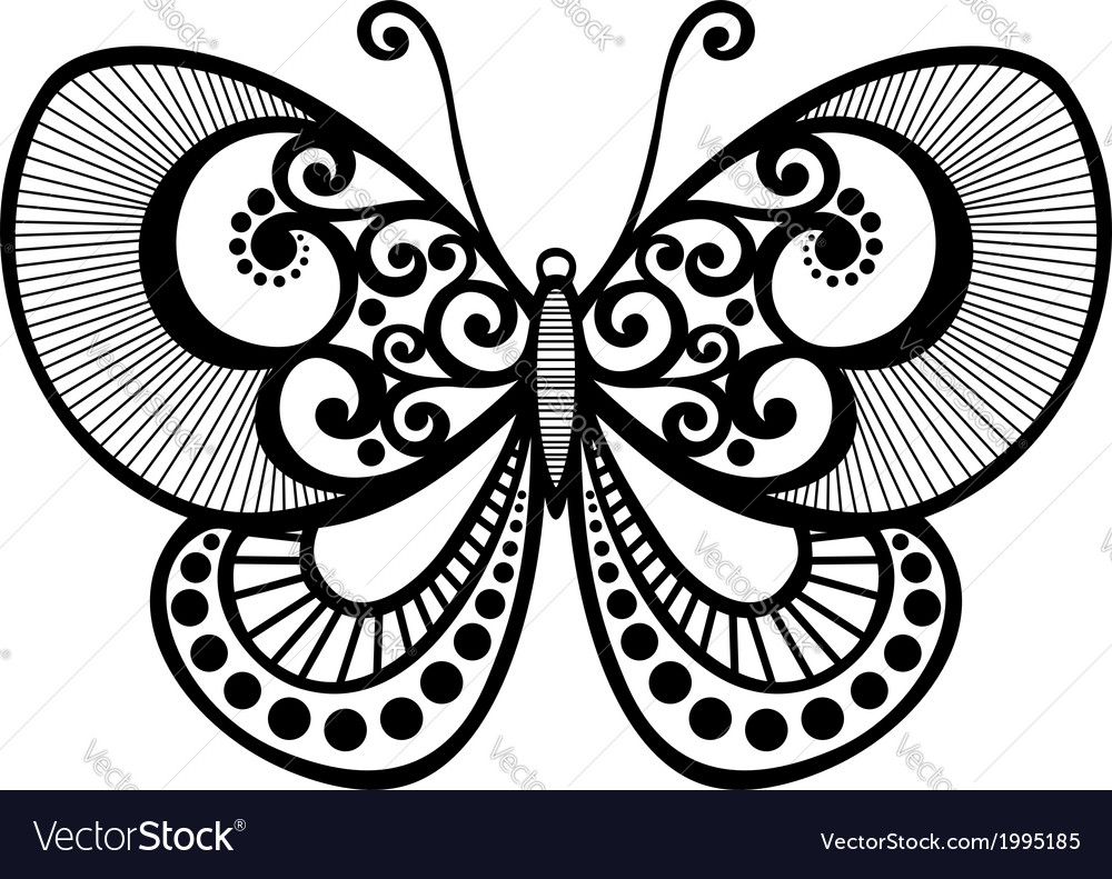 Beautiful butterfly exotic insect vector | Price: 1 Credit (USD $1)