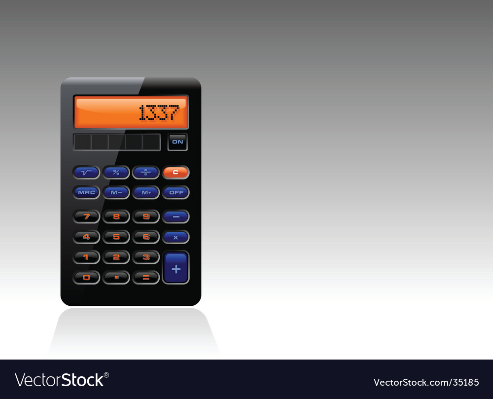 Black calculator vector | Price: 1 Credit (USD $1)