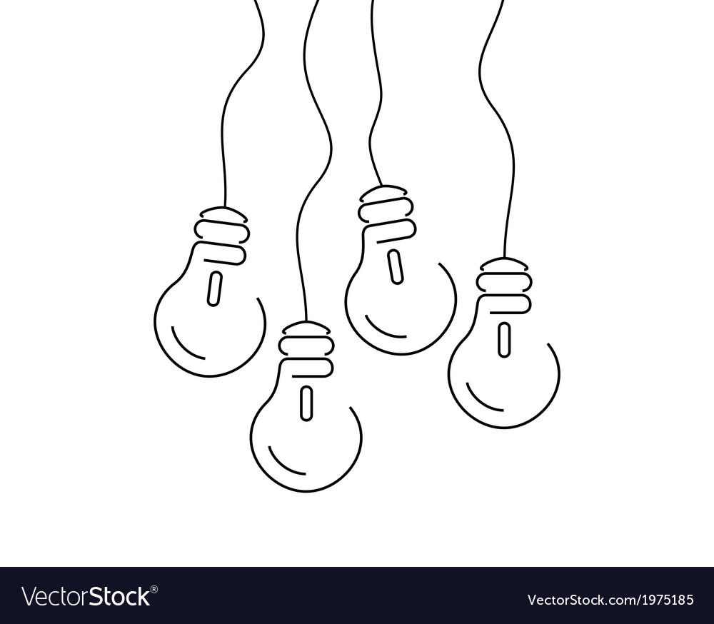 Bulb thin4 vector | Price: 1 Credit (USD $1)