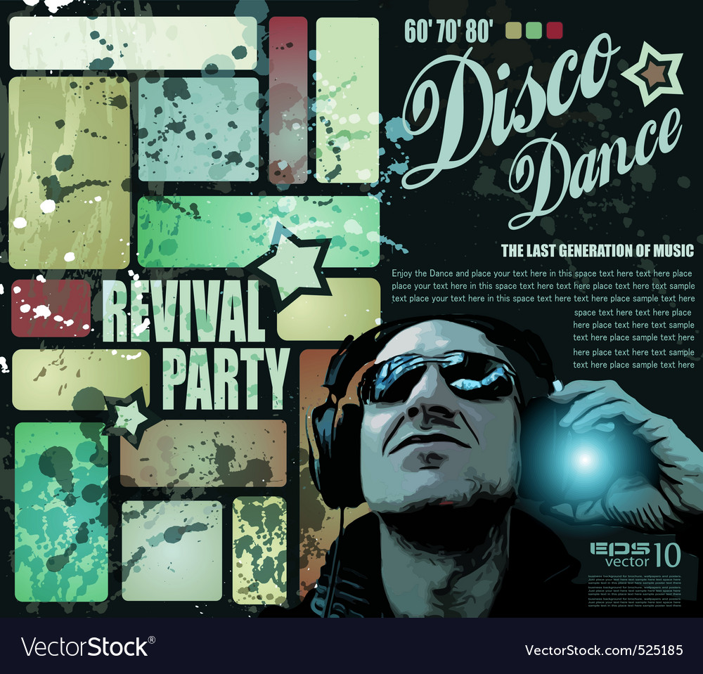 Disco party vector | Price: 1 Credit (USD $1)
