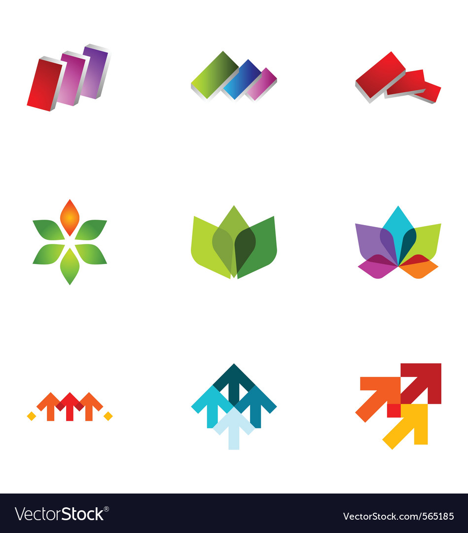Logo design elements set 22 vector | Price: 1 Credit (USD $1)