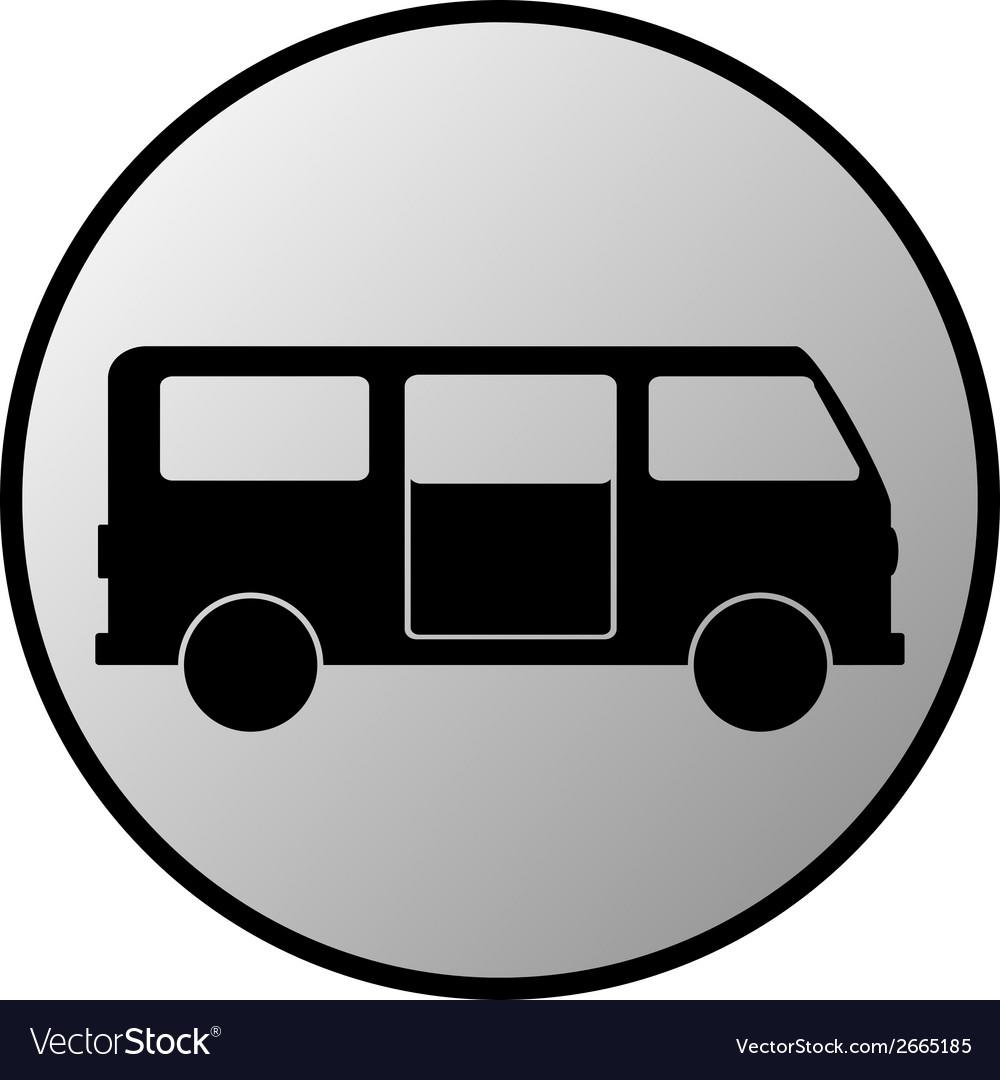 Minibus button vector | Price: 1 Credit (USD $1)