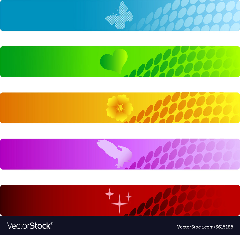 Set of colorful banners vector | Price: 1 Credit (USD $1)