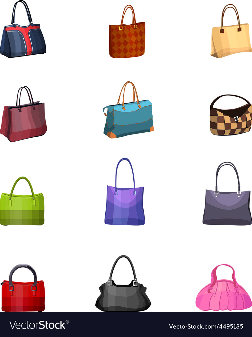 Women s fashion collection of bags vector | Price: 1 Credit (USD $1)