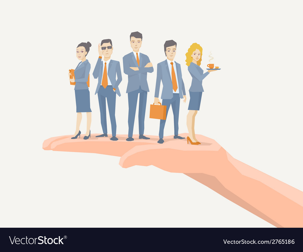 A business team of young business people vector | Price: 1 Credit (USD $1)