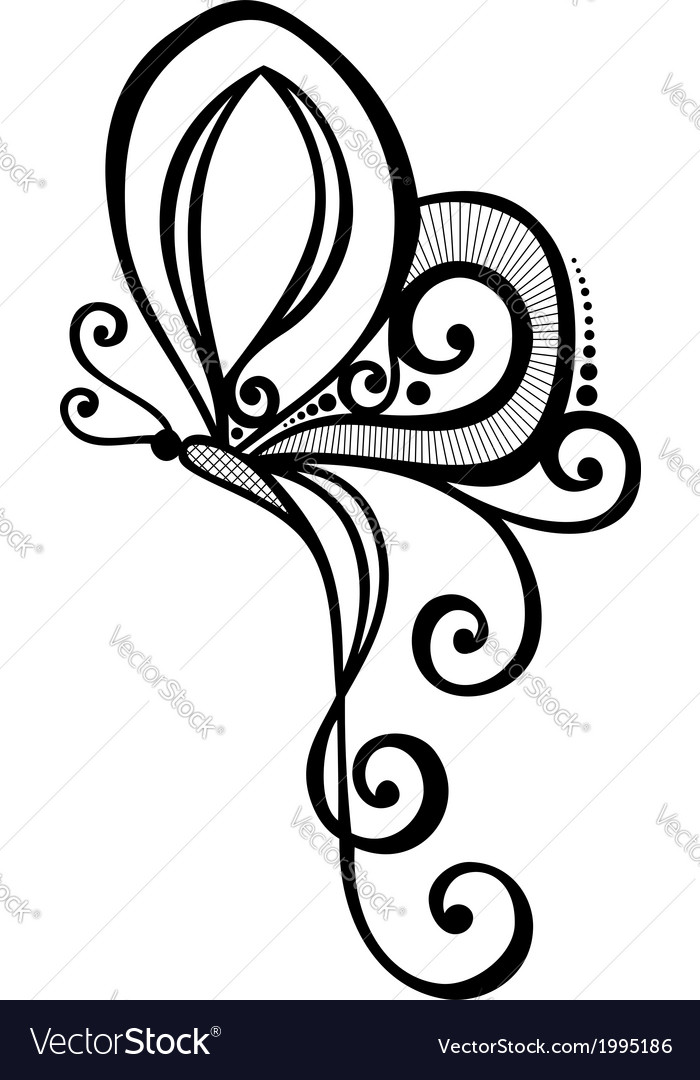 Beautiful butterfly exotic insect vector   Price: 1 Credit (USD $1)